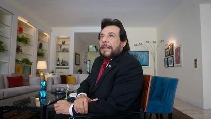 Felix Ulloa, vicepresidente del Gobierno de El Salvador durante la entrevista concedida este lunes en la residencia oficial de la Embajada en España.