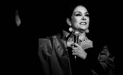 Nati Mistral en una actuación.