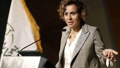 La ministra de Sanidad, Dolors Montserrat, ayer durante la inauguración del 34 Congreso Mundial de Veterinaria.