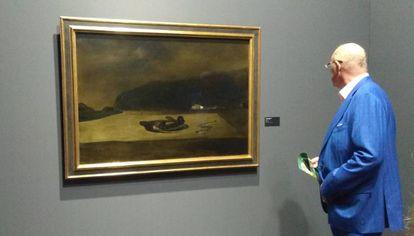 'Violetas imperiales', la obra que Dalí pintó en 1938 cerca de Mónaco que puede verse en la exposición de Forum Grimaldi.