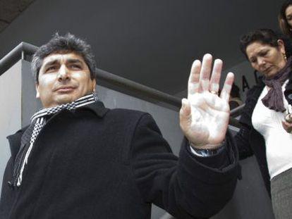Juan José Cortés, tras acudir a los juzgados de Huelva.