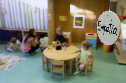 Una de las aulas de la escuela infantil municipal San Antón, dependiente del Ayuntamiento de Madrid.