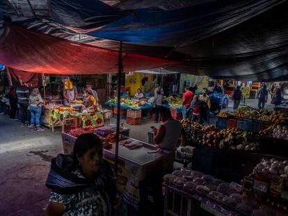 Mercado en la comunidad de Páracho, en el Estado de Michoacán.