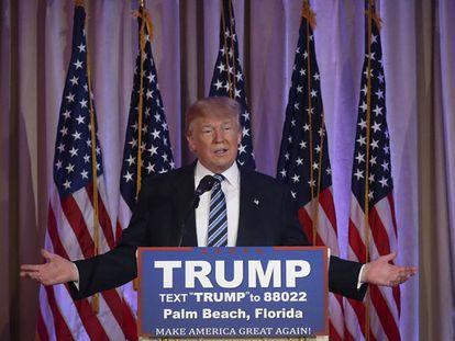 El candidato republicano a la presidencia Donald Trump.