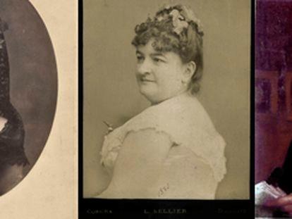 La escritora Emilia Pardo Bazán, retratada en 1869, 1885 y hacia el final de su vida. / MUSEO LÁZARO GALDIANO / ATENEO DE MADRID