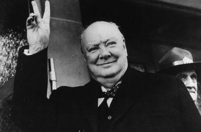 El estadista británico Winston Churchill.
