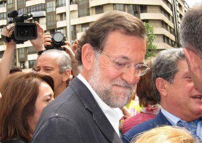 Mariano Rajoy durante su visita a Elche