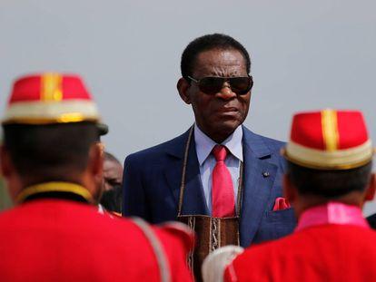 El presidente de Guinea Ecuatorial, Teodoro Obiang, en Santa Cruz (Bolivia) el pasado 22 de noviembre.
