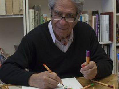 El arquitecto y artista Eduardo Terrazas, en su estudio de Ciudad de México.