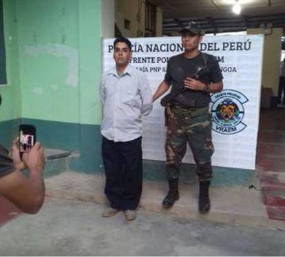 Félix Steven Manrique Gómez, de 35 años, detenido por la policía peruana.