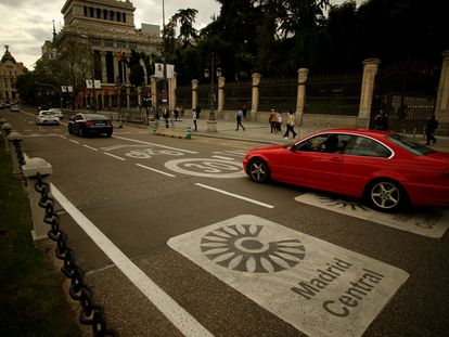La zona de Cibeles, que pertenece a Madrid Central.