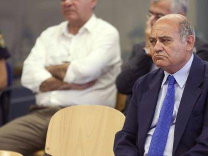 El expresidente de la CEOE Gerardo Díaz Ferrán, durante el juicio.