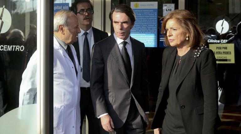 El expresidente del Gobierno José María Aznar y su esposa, Ana Botella, en una imagen de archivo.