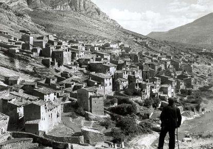 Vista de Tragó de la Noguera a medidos del siglo pasado.