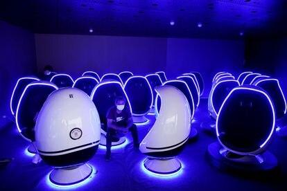 Experiencia de realidad virtual en Pudong, China.