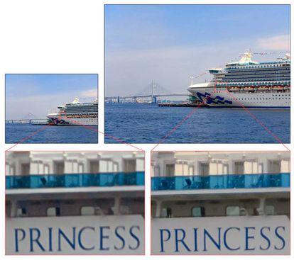 A la izquierda, una fotografía tomada con una cámara de 12 megapíxeles. A la derecha, una imagen obtenida con el sensor IMX586 (48 megapíxeles).