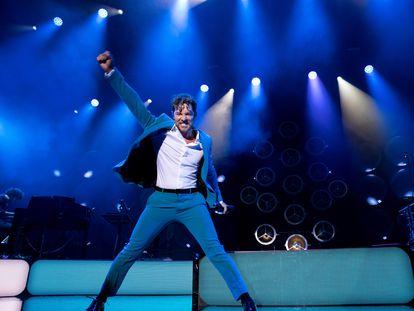 David Bisbal en un momento de su actuación en el Wizink Center de Madrid.
