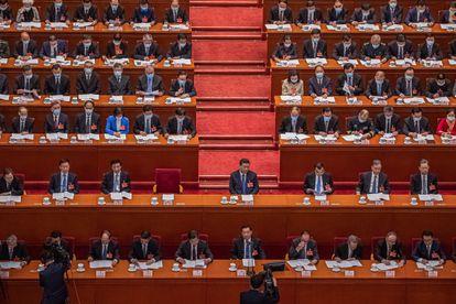 El presidente chino, Xi Jinping, en la Asamblea Nacional Popular, el pasado día 8.