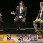 Albert Rivera, acompañado de Anna Grau y Juan Carles Girauta, en el acto de presentación de libro.