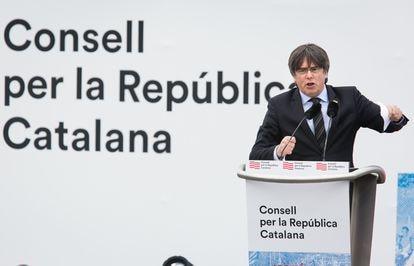 Carles Puigdemont el sábado pasado en Perpiñán.
