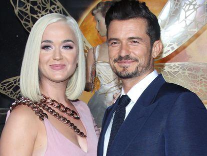 """Orlando Bloom y Katy Perry en el estreno de """"Carnival Row"""" en Los Angeles, California, en agosto de 2019."""
