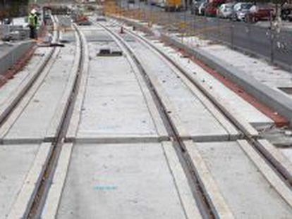Obras del metro de Granada.