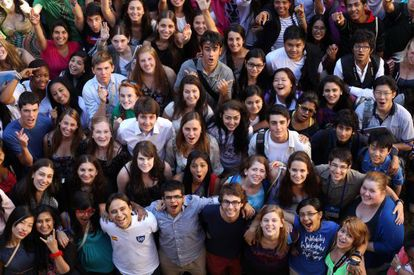Estudiantes de Bachillerato Internacional en un seminario de la IE University en Segovia. / Gorka Lejarcegi