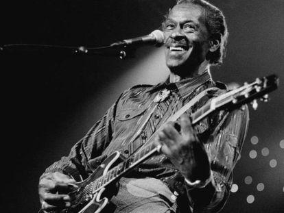 Chuck Berry, en 1995, durante un fetival de jazz en Holanda.