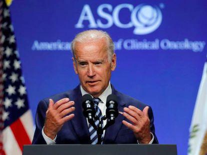 El vicepresidente de EE UU, Joseph Biden, el lunes 6 de junio en Chicago.