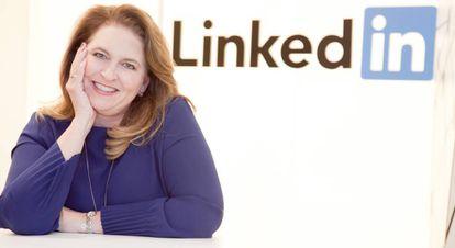 Sara Harmon en las oficinas de LinkedIn España y Portugal.