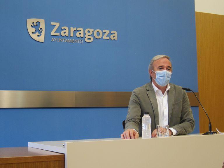 El alcalde de Zaragoza, Jorge Azcón (PP).