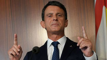 El ex primer ministro francés, Manuel Valls, en una comparecencia reciente.