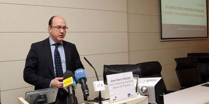Jose María Roldán, en unas jornada sobre la banca en 2011.