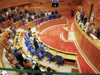 Hemiciclo del Parlamento gallego durante el pasado debate del estado de la autonomía.