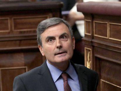Pedro Saura, en el Congreso de los Diputados.