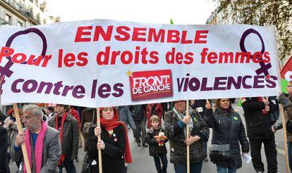 Manifestación contra las violencias machistas en París en 2016.