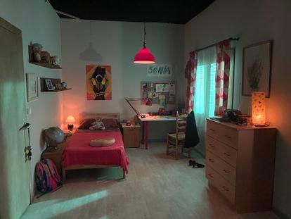 La habitación de Sonia Carabantes