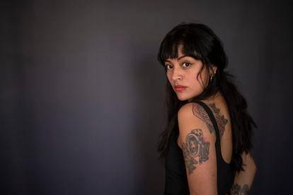 La escritora mexicana Clyo Mendoza, retratada en Madrid.