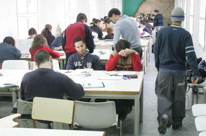 Aula de estudio en la facultad de Medicina de la Universidad de Sevilla.