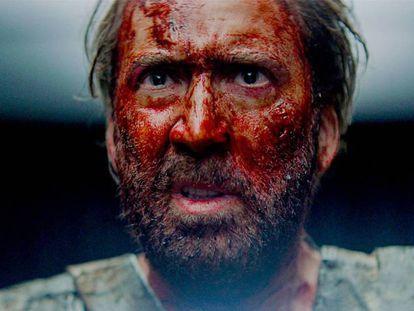Nicolas Cage, en un fotograma de la película 'Mandy', de Panos Cosmatos.