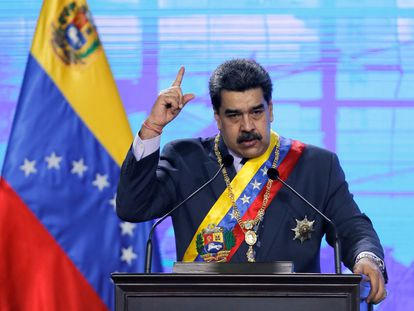 Nicolás Maduro, el pasado 22 de enero, en Caracas.