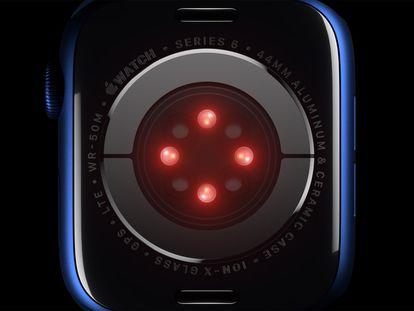 Detalle de la nueva Apple Watch Series 6.
