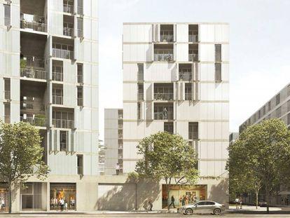 Proyecto de viviendas en Barcelona.