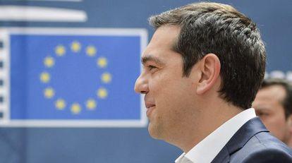 El primer ministro griego, Alexis Tsipras, a su llegada a la última cumbre de jefes de Estado y de Gobierno celebrada en Bruselas.