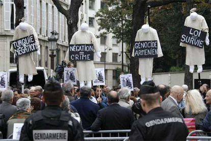 Manifestación de armenios en París.