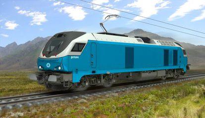 Una de las locomotoras del pedido sudafricano.