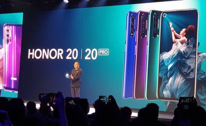 El presidente de Honor, George Zhao, presenta los nuevos Honor 20.