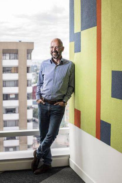 Ricardo Calderón, en las instalaciones de revista Semana en Bogotá.