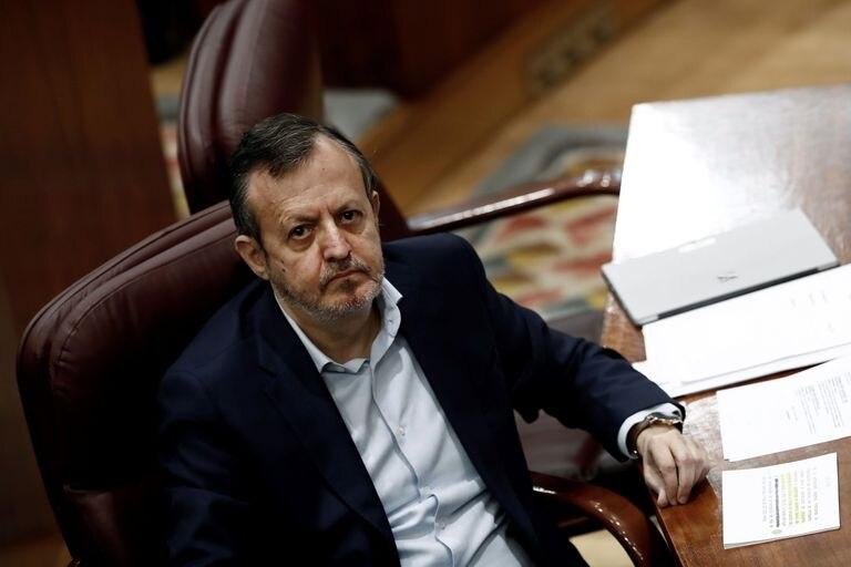 El consejero de Políticas Sociales, Alberto Reyero, durante una nueva sesión de control en la Asamblea de Madrid.