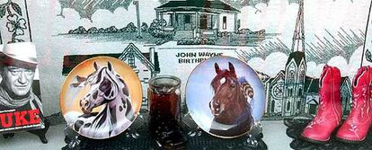 Recuerdos de John Wayne en Winterset, Iowa.